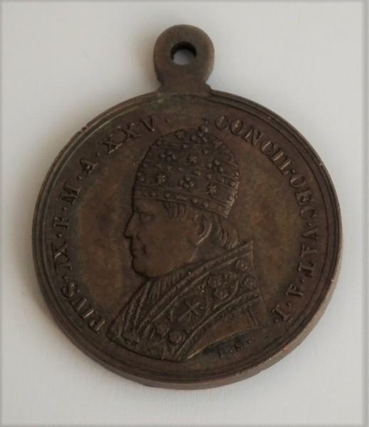 Original Medaille des Seligen Papstes Pius IX.
