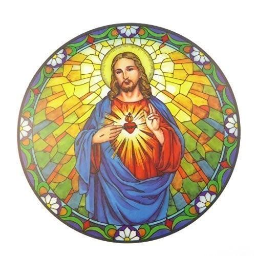 Sonnenschutz-Aufkleber Herz Jesu (Wiederverwendbar)